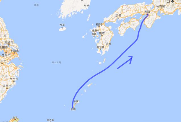201605 沖縄から飛行機で大阪へ