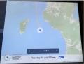 奥尻島沖航海中