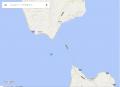 津軽海峡を横切ります