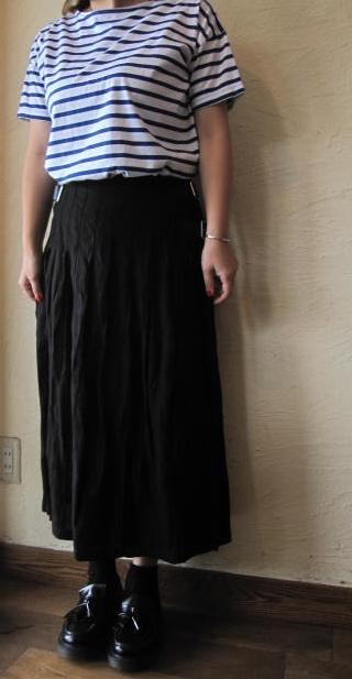 onielラップスカートブラック