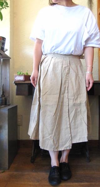 gauzeラップスカート
