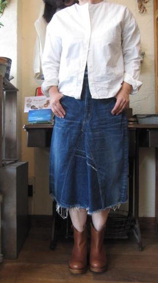 orslowデニムスカート