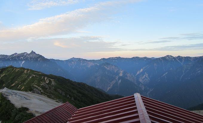 燕岳山荘から もう少し右の方(南西) 28.7.24