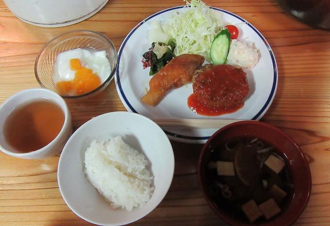 燕山荘の夕食 28.7.23