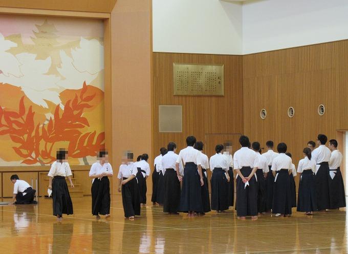 錬成会・審査会が終わって 大手前高校 28.9.4