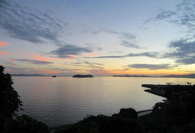 三河湾の夕焼け 28.9.25