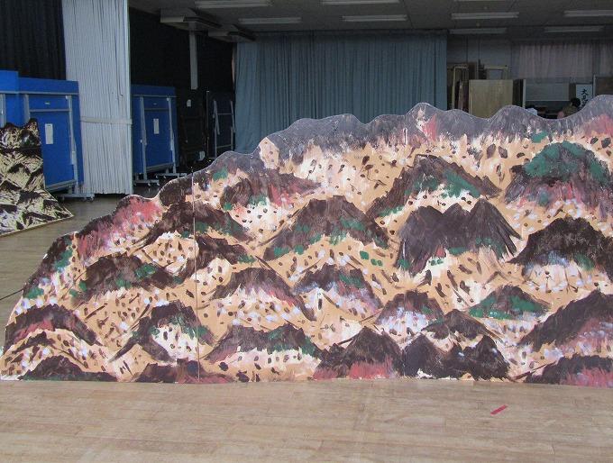壺坂山の段の山、出来上り 28.10.16