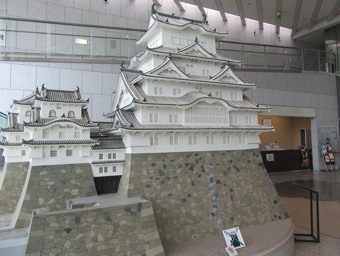 博物館の中にある模型の姫路城 28.12.1