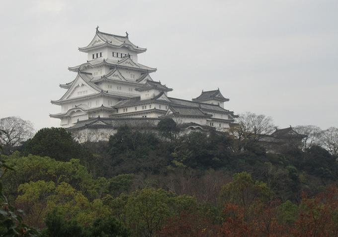 博物館から見た姫路城の裏側 28.12.1