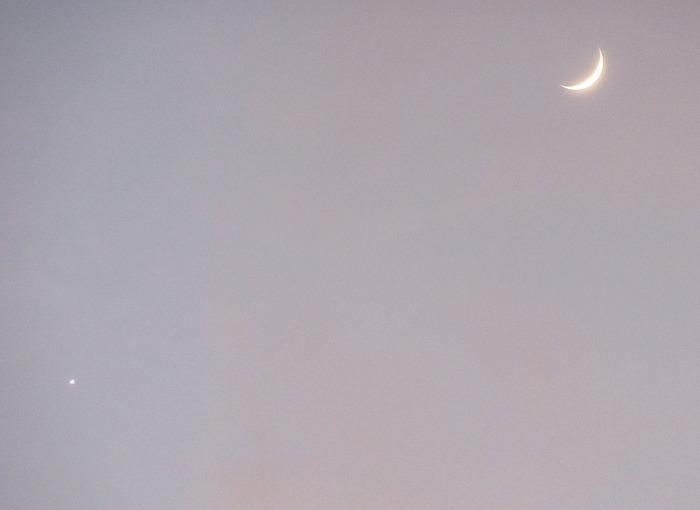 お月様と金星 28.12.3