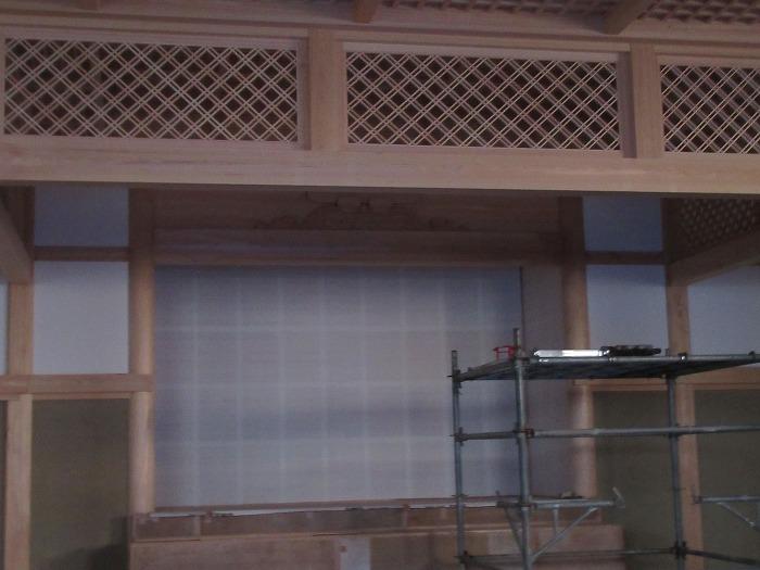 新しい中の坊本堂 28.12.25