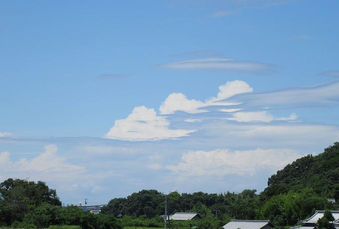 不思議な雲に近付くと 28.7.3