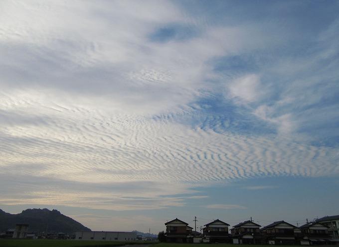 9月 1日 の夕方の空と雲 28.9.1