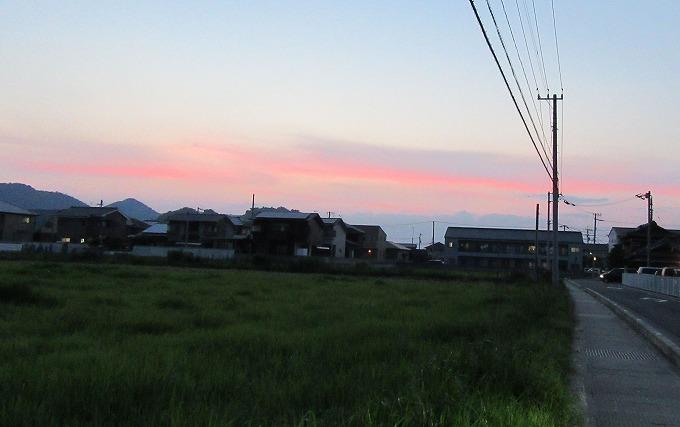 西の空夕焼け 28.7.18