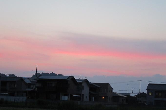 西 優しい夕焼け 28.7.18