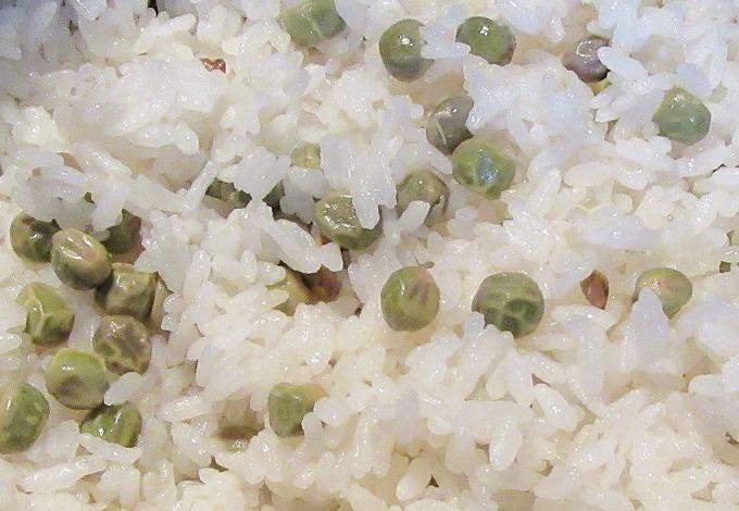 古代エンドウ豆ご飯 28.5.31