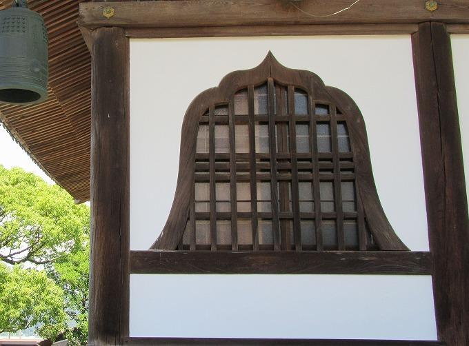 本門寺 窓 釣鐘の形 28.7.3