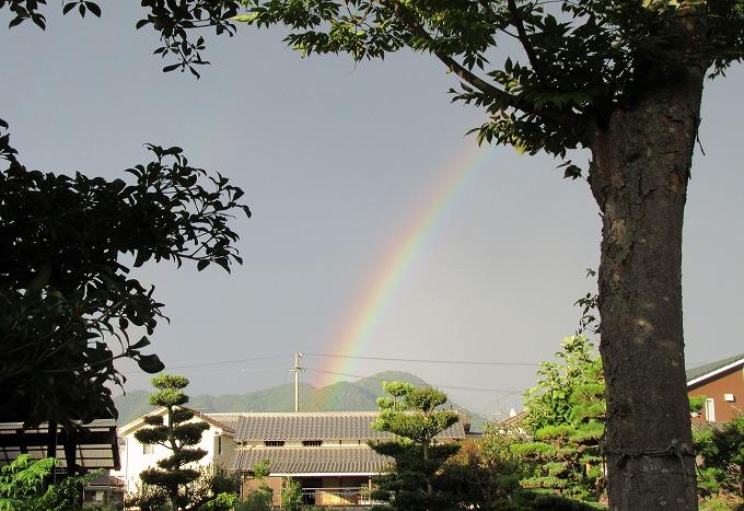 前の家の庭にも虹 28.9.4