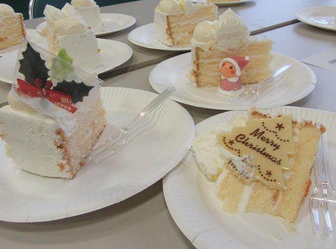 クリスマスケーキ試食会 28.11.8