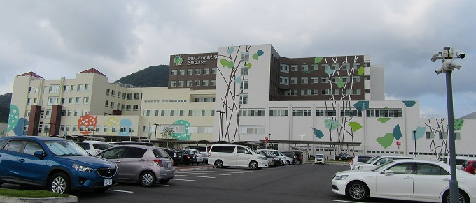 曇りの日の病院 28.9.20