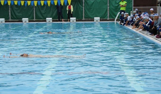 着衣水泳 模範浮き 28.7.11