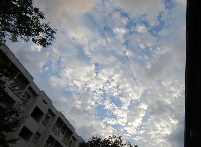 夏祭りの夕方の空 28.8.26