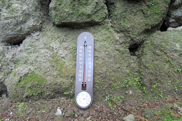 風穴3 横 温度計 28.4.26