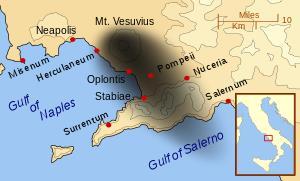 ポンペイ遺跡、噴火