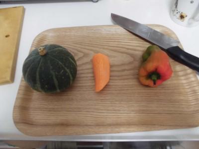 かぼちゃ、にんじん、ぴーまん
