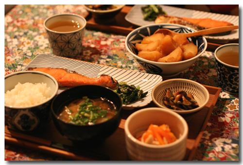 焼き鮭 夕飯