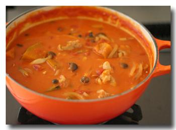 鶏肉とかぼちゃのトマトクリーム煮