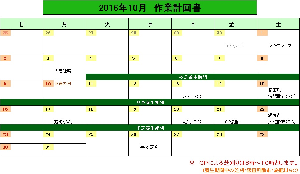 201610作業計画