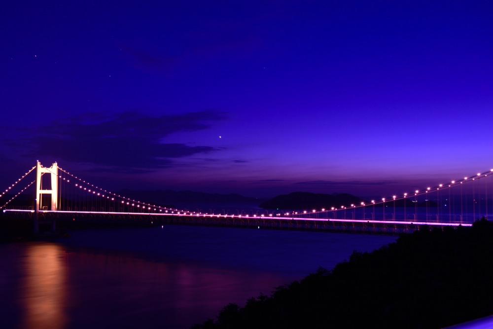 鷲羽山より瀬戸大橋ライトアップDSC_1196