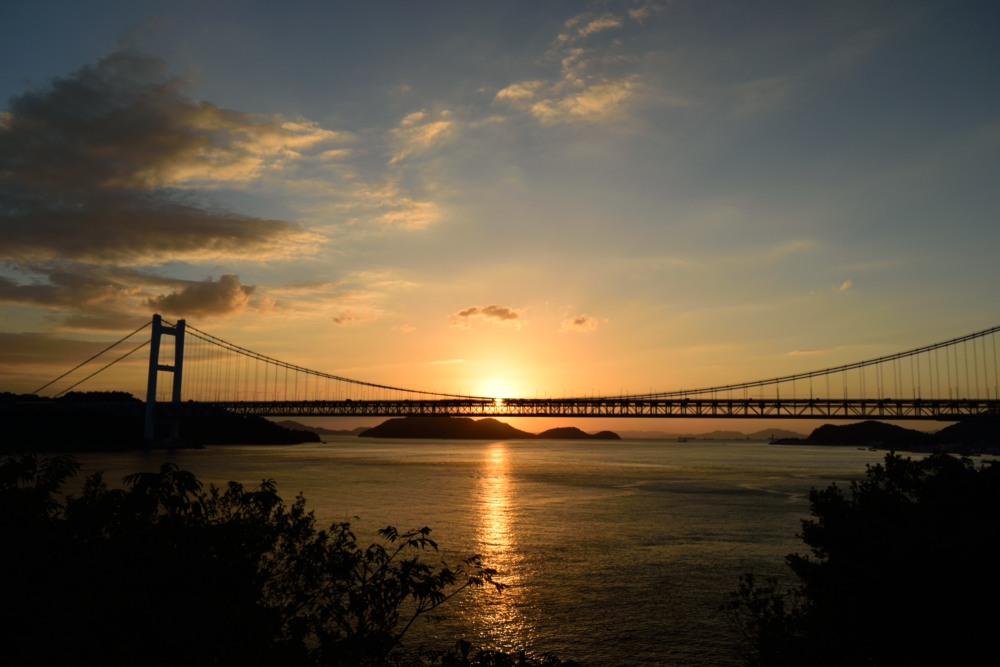 瀬戸大橋の夕陽DSC_1064