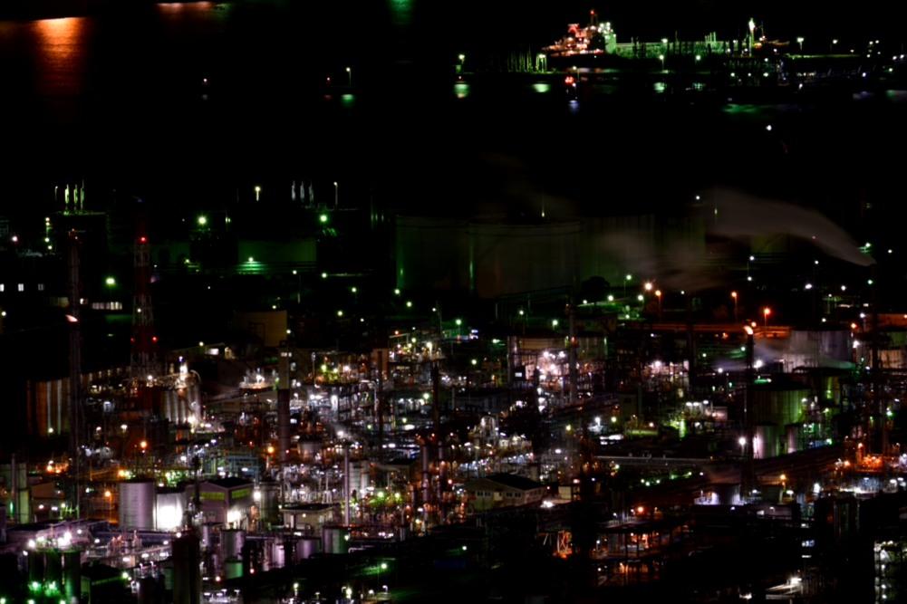 工場夜景煙アップDSC_1221