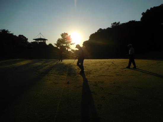 秋信・早朝ゴルフ 038