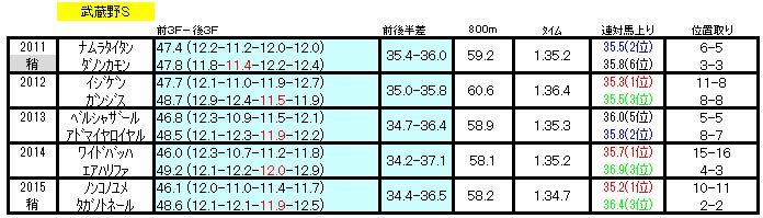 武蔵野Sラップ
