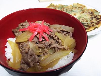 牛丼&チヂミ