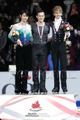 スケートカナダ表彰式