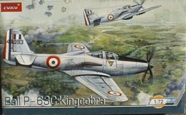 1/72 toko トコ UNIMODEL from UKRAINA ベル P-63C キングコブラ 仏軍・ベトナム戦 戦闘機