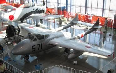 デ・ハビランド DH.100 バンパイア(de Havilland DH.100 Vampire)シュド・エスト ミストラル(Mistral)ベノム シービクセン DH.106 コメット旅客機 モスキート(DH.98 Mosquito)航空自衛隊浜松広報館エアーパーク「SHIROBAKO」陸上自衛隊広報センター(りっくんランド)海上自衛隊佐世保史料館
