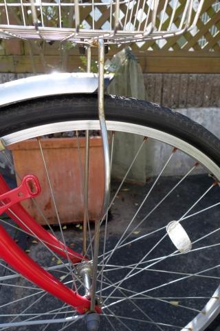自転車用 前カゴステー ブロック
