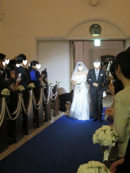h28,6結婚式バージンロード