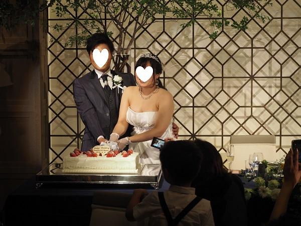 h28,6結婚式ケーキカット