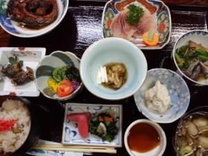 湯船沢温泉夕食