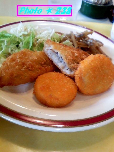 白身魚とホタテ風フライ
