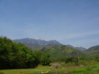 鳳凰三山がきれいに見えました