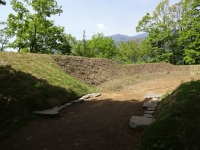 乾門 二之門の礎石表示