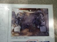 乾門 二之門 炭化材の説明