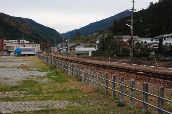 高山本線少ヶ野貨物駅(現在は信...
